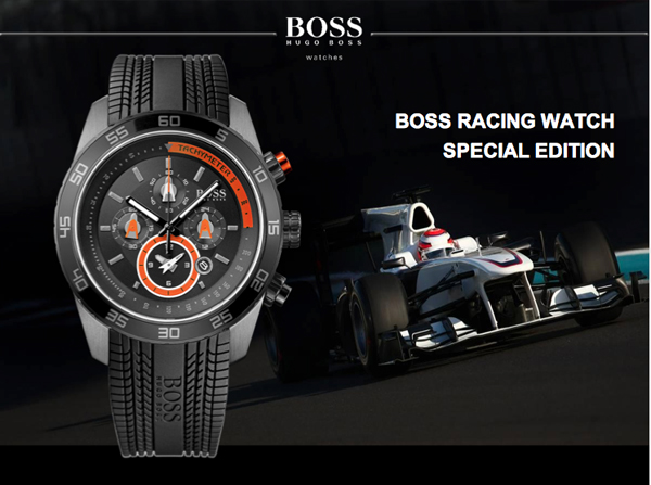 Boss Racing Watch, un reloj con aire a F1