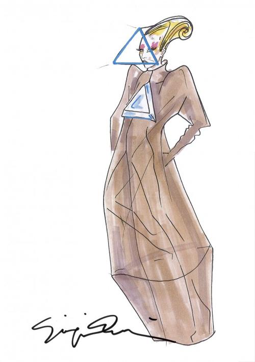 Giorgio Armani crea los bocetos para el tour de Lady Gaga