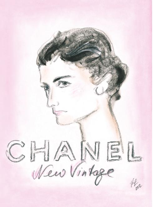 Karl Lagerfeld dibuja a una joven Coco Chanel para la invitación al desfile de Chanel