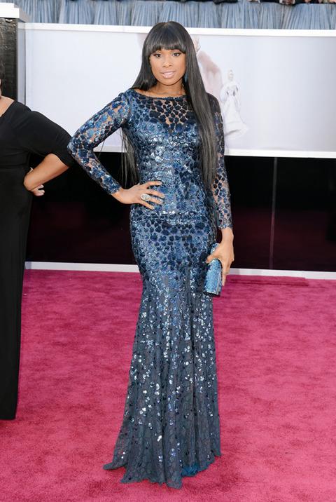 Jennifer Hudson en la alfombra roja de los Premios Oscar 2013