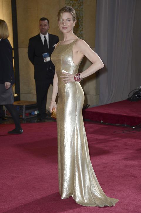 Renee Zellweger en la alfombra roja de los Premios Oscar 2013