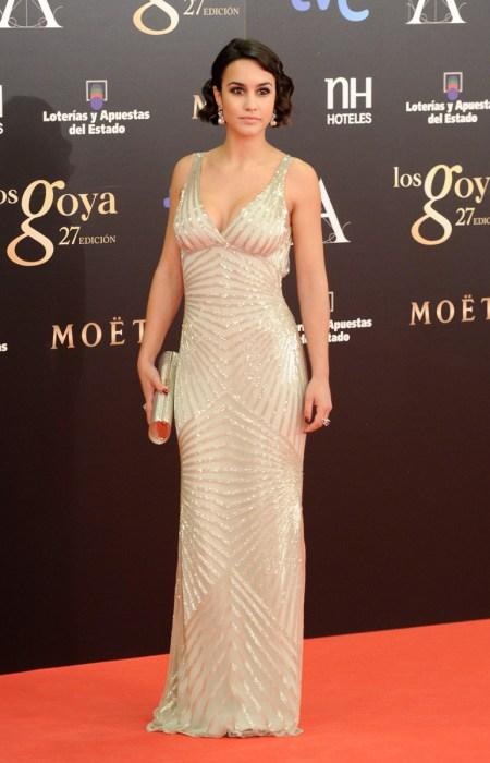 Alba García en Los Goya 2013