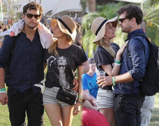 Joshua Jackson y Diane Kruger en Coachella 2013