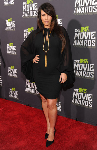 Kim Kardashian en los MTV Movie Awards 2013