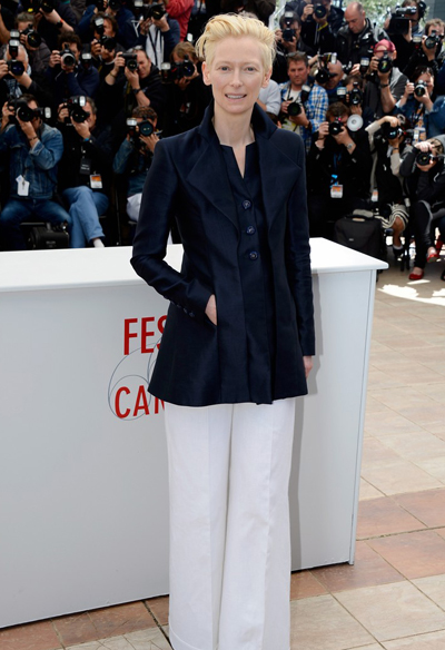 Tilda Swinton en Cannes 2013