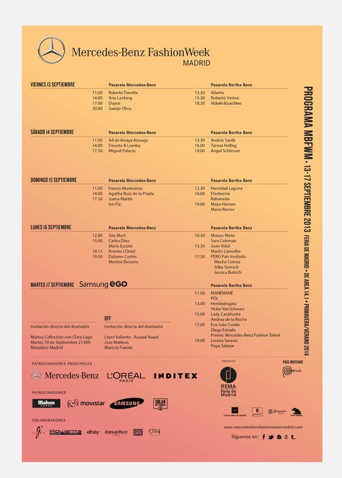 Ya tenemos cartel para la Mercedes-Benz Fashion Week Madrid