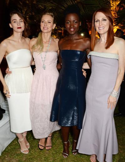 Rooney Mara, Naomi Watts, Lupita N'yongo y Julianne Moore en el Festival de Cannes 2014