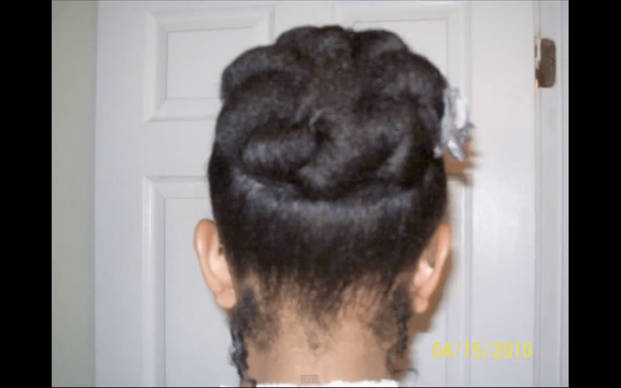 Quick Easy Style For Short Natural Hair The Bunned Updo Bglh