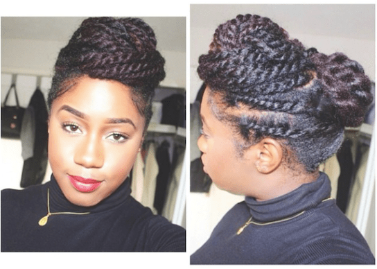 5 Simple Styles For Medium Length To Long Kinky Natural Hair