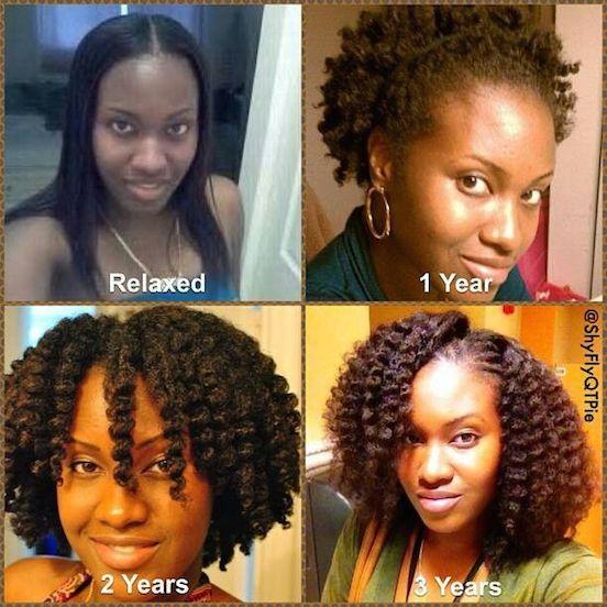 10 Inspirational Photos of Amazing Natural Hair Journeys ...