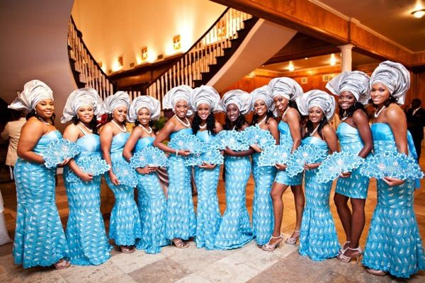 10 Gorgeous Photos of Nigerian Aso-Ebi (aka Bridesmaids) - BGLH Marketplace