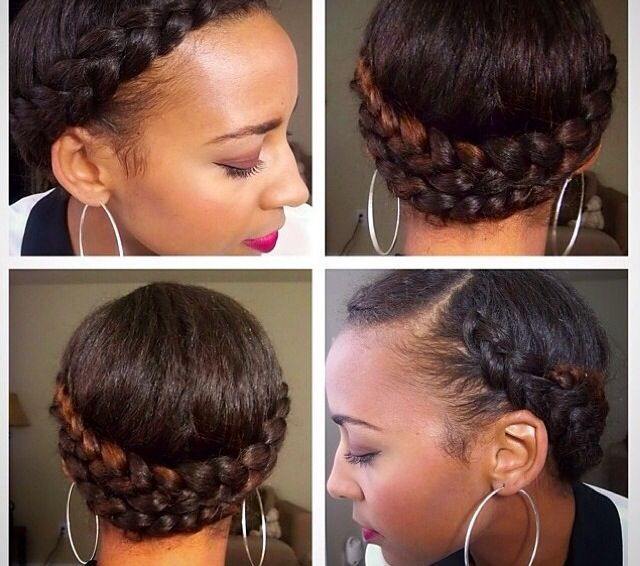 10 Gorgeous Photos Of French And Dutch Braid Updos On Natural Hair