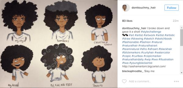 Cartoon Afro Hair Drawing Kumpulan Soal Pelajaran 5