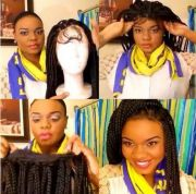 video lace front wig
