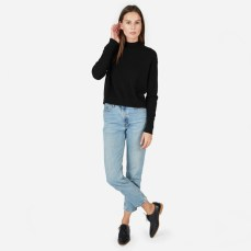 Cashmere Crop Mock Neck Sweater from Everlane