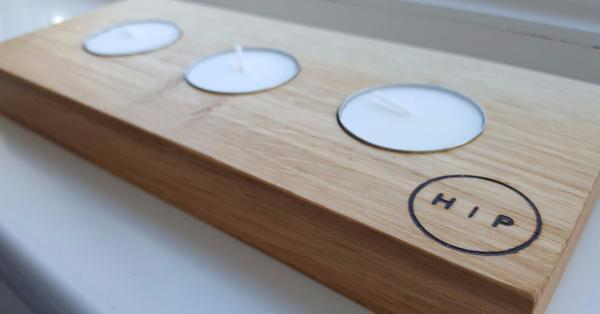 Hope In Planks Signature Solid Oak Candle Holder, £11.99, Photo Cred: Hope In Planks