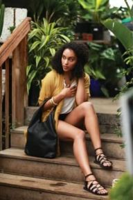 Sseko Designs Black Leather Wrap Sandal, $69.99, Photo Cred: Sseko Designs