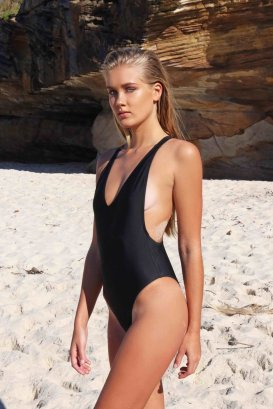 Wategos One Piece in Black from Mime Swim, $189