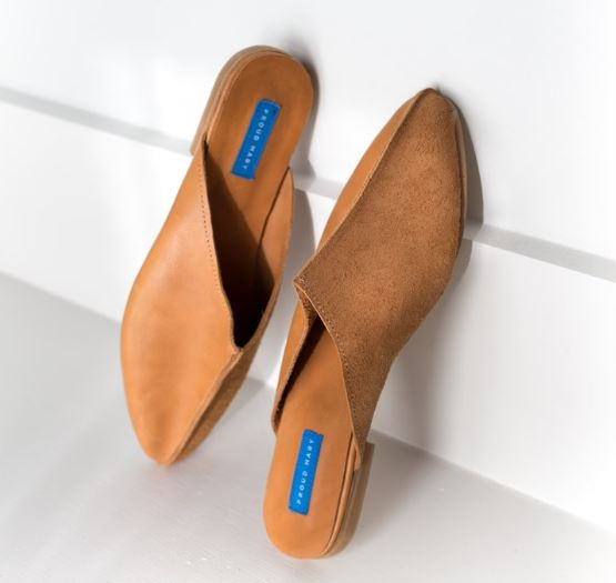 Proud Mary Tan Leather Slide, $178, Photo Cred: Proud Mary