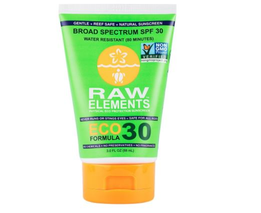 Raw Elements Eco Fomula 30+ Lotion Tube (3oz)