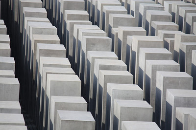 The thousands of stone blocks that sit above the Holocaust Museum