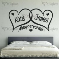 Personalised Always & Forever Love Hearts Wall Art  BGraphics