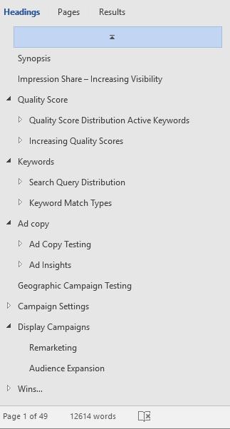 AdWords Audit TOS