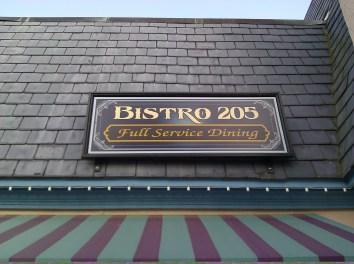 Bistro 205 Signage