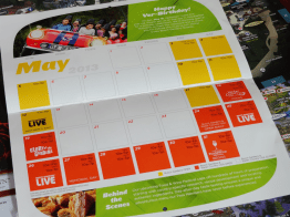 Calendar for May. Notice Verbolten's birthday on the 18th and the Food & Wine Festival starting at the end of the month.