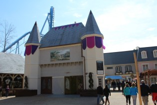 Note the new banners and doors on La Belle