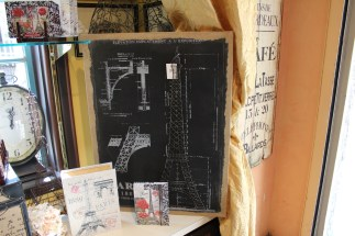 A neat Eiffel Tower model they had for sale.