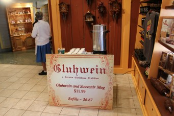 Gluhwein was being served in the clock shop in Rhinefield