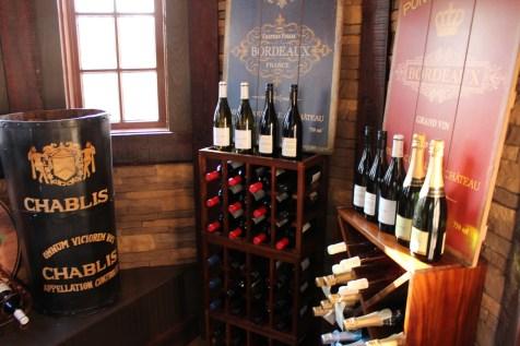 A look inside the wine cellar