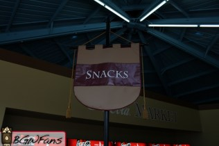 The snacks banner