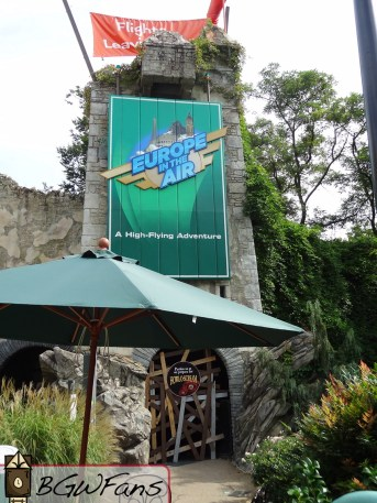 As you can see, even though Europe in the Air has been closed for nearly two months now, the park still has yet to touch its signage