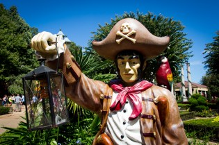 One of last year's mini golf-esque pirate statues