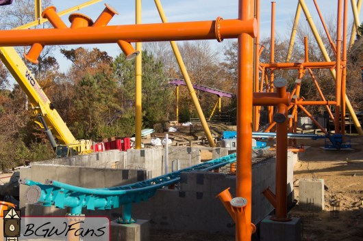 An overview of the current progress on the station trackwork