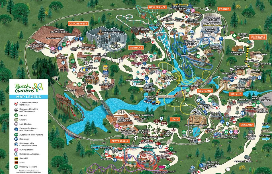 2016 map fun tracker - Busch gardens williamsburg halloween ...