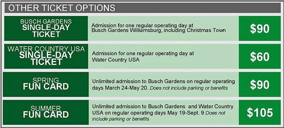 New Year Brings New Busch Gardens Williamsburg Passes
