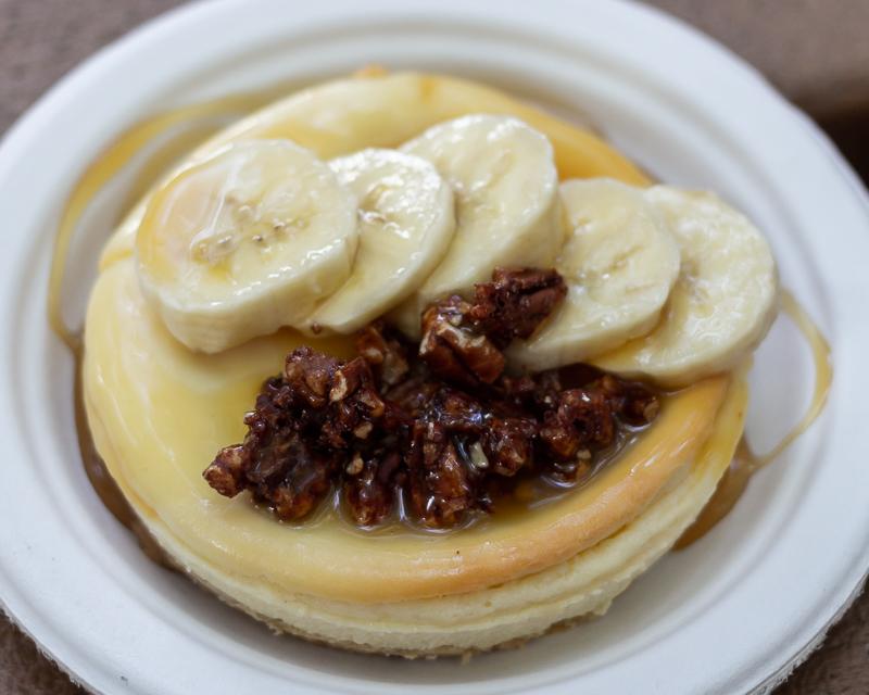 Busch Gardens Williamsburg Food and Wine Festival 2019 Bananas Foster Cheesecake