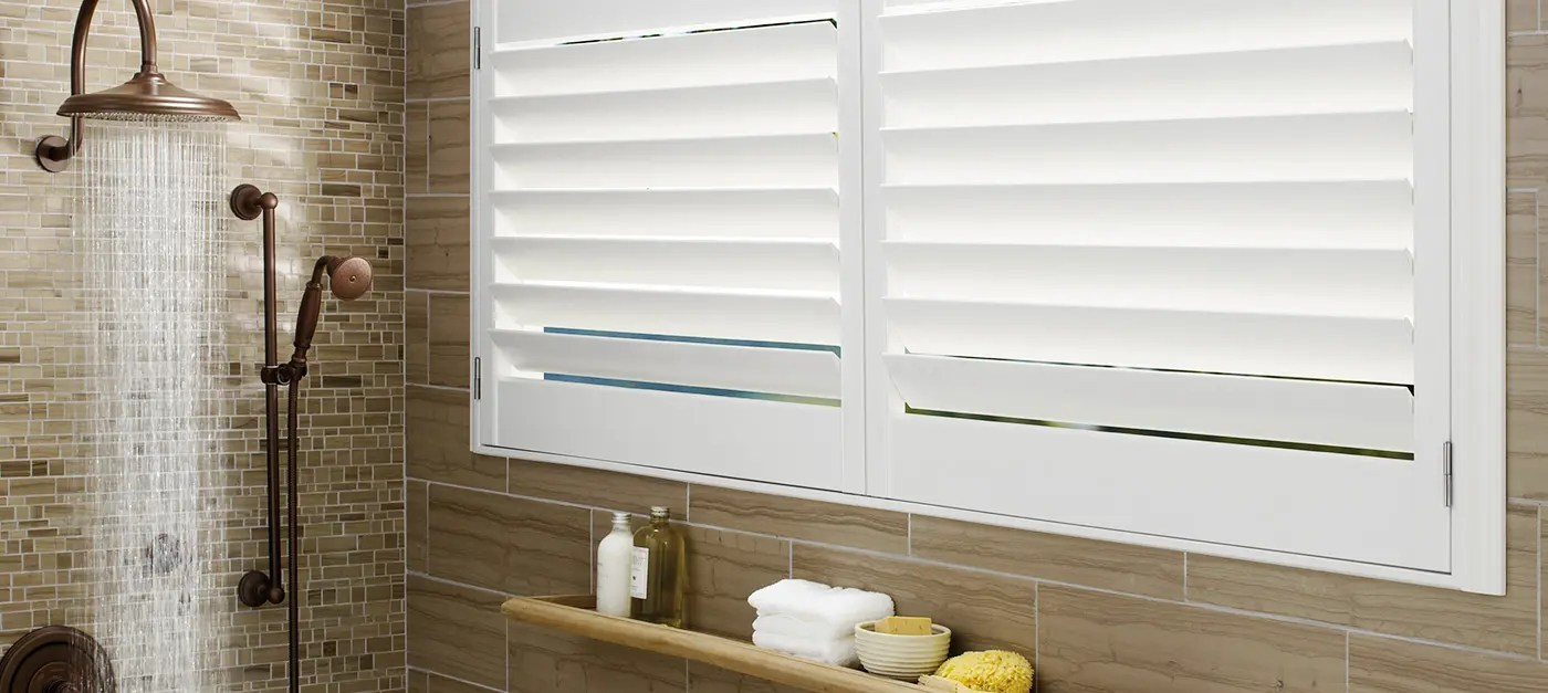 Bathroom Window Treatments Shutters Custom Window Treatments