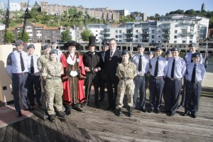 SS GB with Deputy Lord Mayor & Deputy Leiutenant