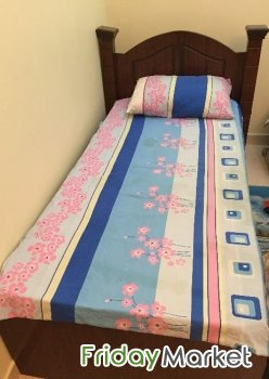 Wooden Single Bed With Mattress And Cupboard Manama Bahrain