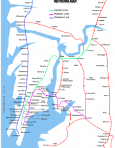Mumbai suburban railway network image also list of stations local train central harbour and western rh bhaaratham