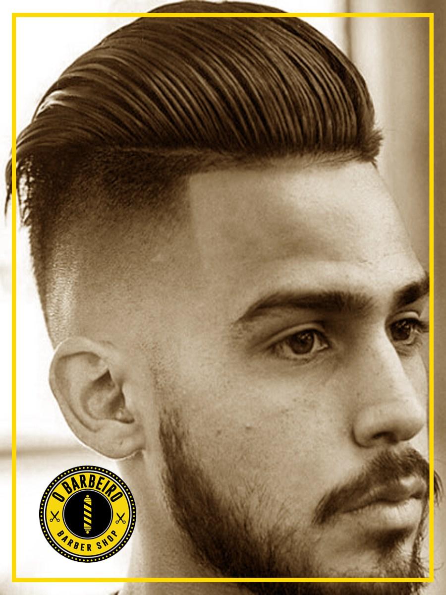 Homem corte de cabelo fade masculino barbearia