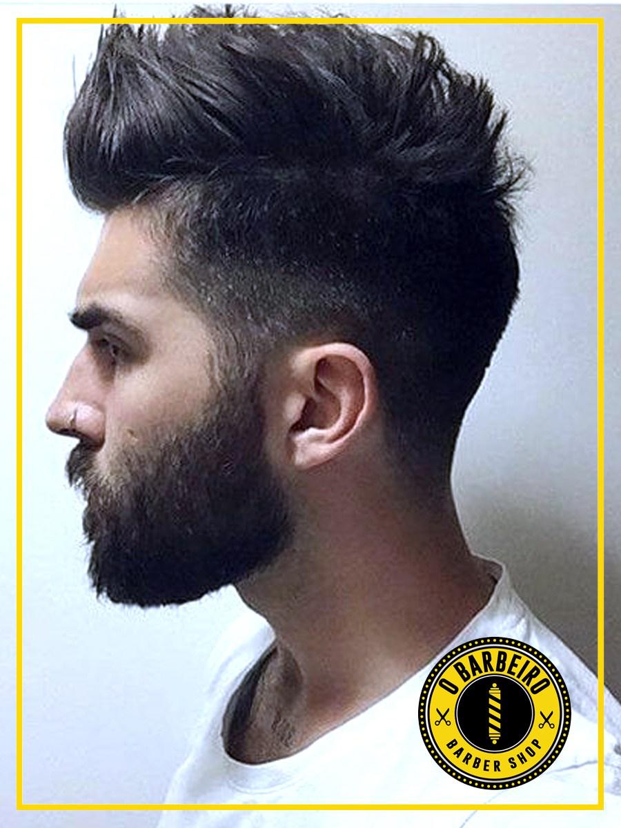 Corte de Cabelo Curto Estilo Desgrenhado Barbearia e Salão de Beleza