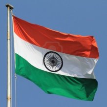 indian flag waiving