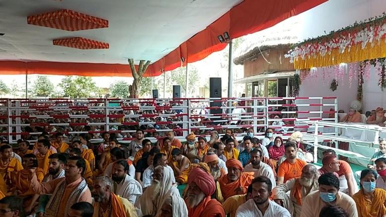 /ramanreti ashram/GOPI NRITYA WITH KRISHNA BHAJAN AUR  BHAKTA GANA RAS LETE HUYE
