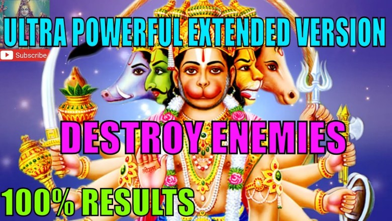 ॐ HANUMAN MANTRA TO DESTROY ENEMIES ॐ ULTRA POWERFUL EXTENDED VERSION