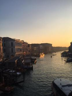 The Grand Canal at sunset (photo by Ellie Janik)